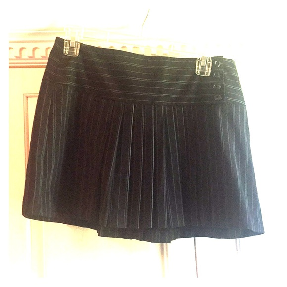 Dresses & Skirts - BLACK AND BLUE PIN STRIPED PLEADED SKIRT